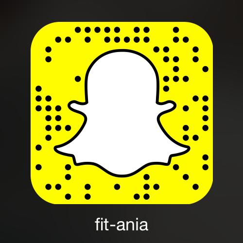 Dlatego jeśli chcecie być na bieżąco z tym, co akurat robię i gdzie jestem - zapraszam na Snapchat: fit-ania :)