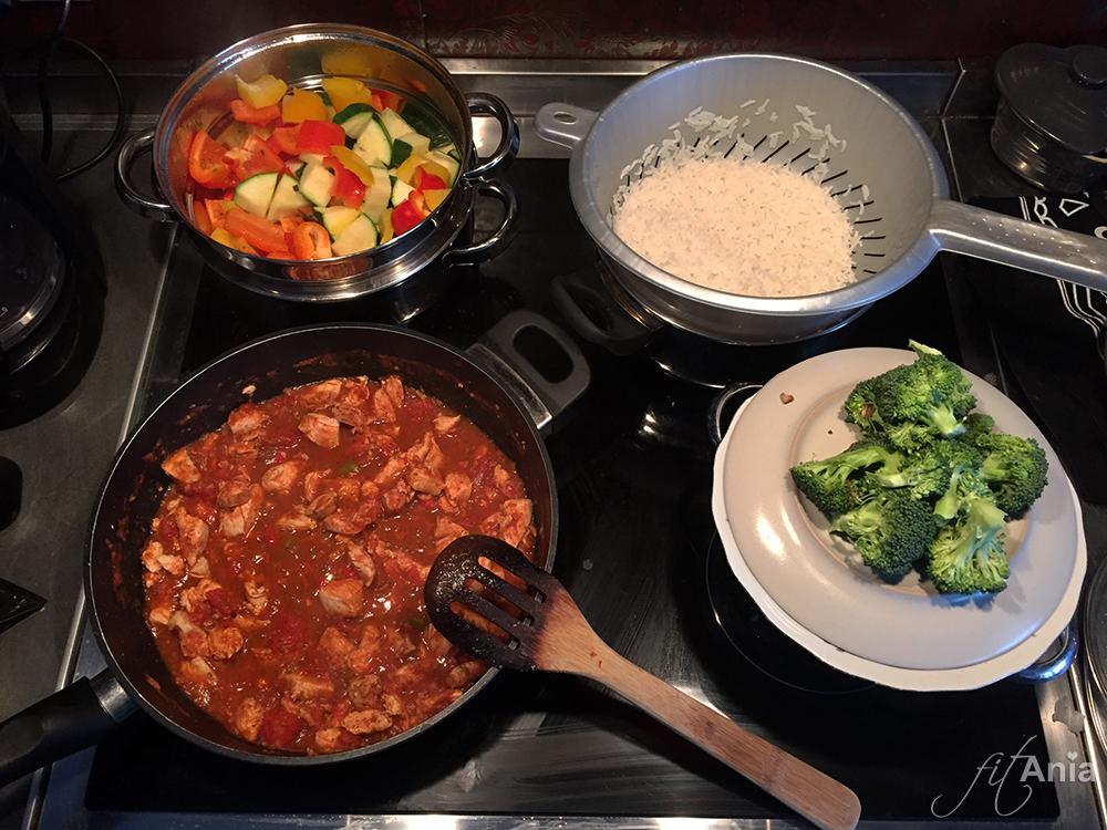 Tak wygląda przygotowywanie posiłków każdego dnia.