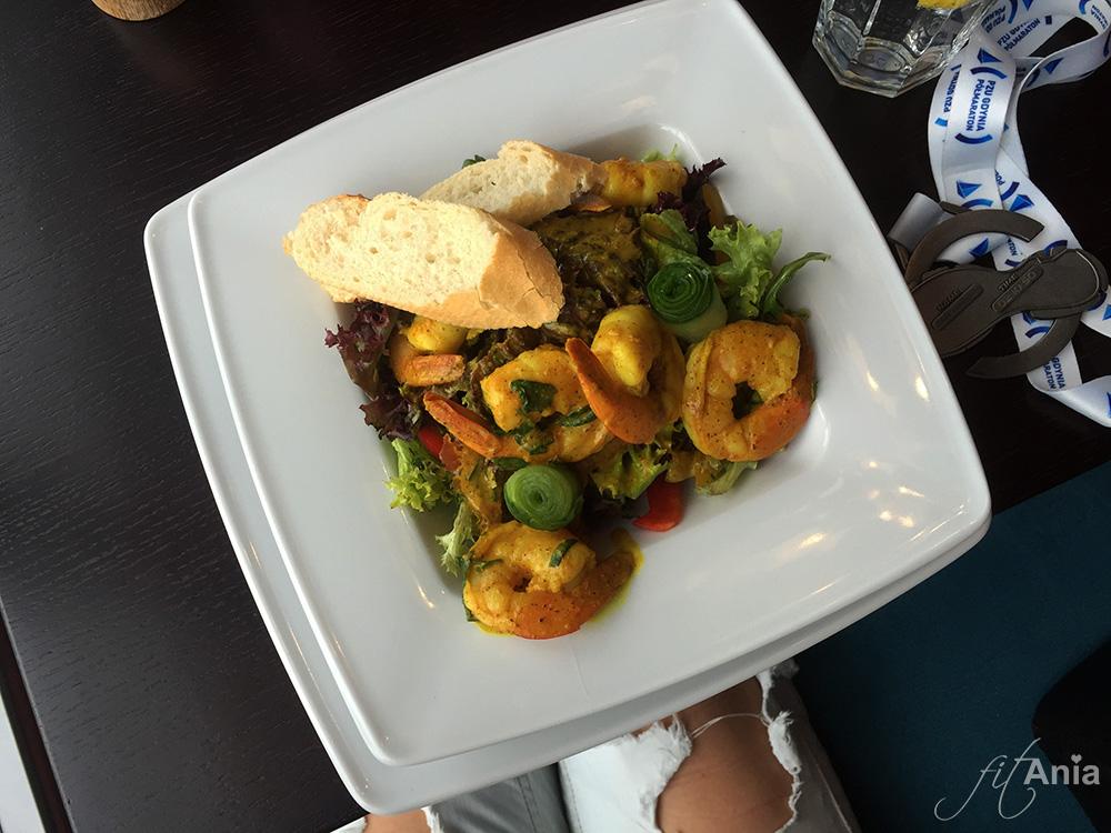 Krewetki w restauracji On/Off w Gdyni! :) To tylko część naszej uczty… ;)