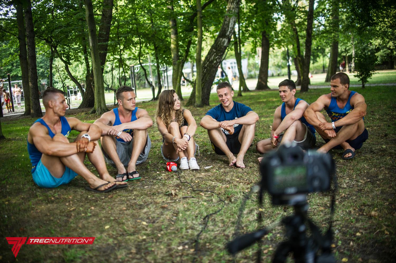 Wywiad z ekipą Warszawski Koks dla Trec Nutrition, Sopot 2014. fot. Wojtek Koziara